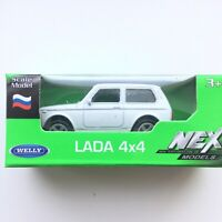 Welly LADA NIVA Russian Off-road Car White Color 1:60 Scale Die-Cast Metal NEW
