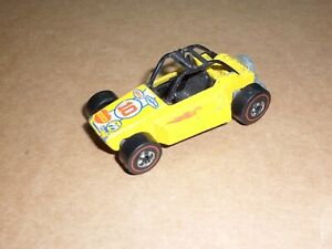 Vintage Hot Wheels Redline Yellow Rock Buster Hong Kong 1975 Flying Colors