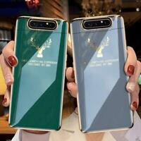 Lifting Protection Case for Samsung A80 Luxury Plating Anti-knock Hard Cover NEW