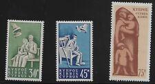 Cyprus Scott #254-56, Singles 1965 Complete Set FVF MH