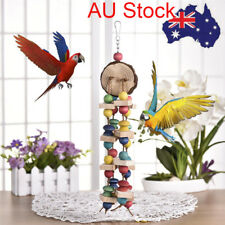 Pet Swing Bird Toy Parrot Wood Blocks Cage Hang Toys Parakeet Cockatiel Budgie