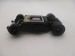 TOMY TURBO BLACK WHEEL HO SCALE SLOT CAR CHASSIS ..