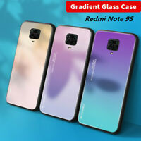 For Xiaomi Redmi Note 9S 8T Poco X3 NFC Gradient Tempered Glass Hard Case Cover