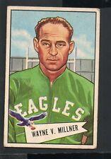 1952 Bowman Small Football Card #57 Wayne Millner-Philadelphia Eagles