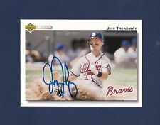 Jeff Treadway signed Atlanta Braves 1992 Upper Deck baseball card