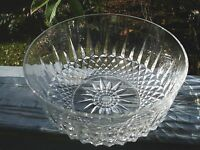 ARCOROC FRANCE GLASS BOWL STAR DIAMOND CUT GLASS BOWL