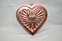 Vitntage Copper Tin Hanging Heart Shaped Jello Mold