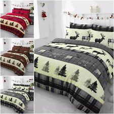 Stag Deer 100% Brushed Cotton Flannelette Duvet Quilt Cover+Pillowcase Bedding