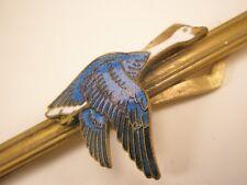 -Blue Enamel Goose Vintage Tie Bar Clip gift canadian bird gift