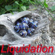 10 Perles de verre Lampwork 17 mm +/- (Perle indienne )