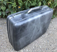 "VTG Charcoal Gray Marbled Hard Sided 21"" American Tourister Luggage Suitcase GUC"