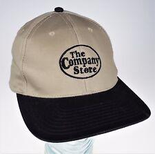 The Company Store Tan & Black Cap Hat Plastic Snap