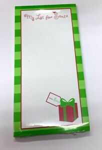 My List for Santa Magnetic Notepad lets all the family make their present lists!