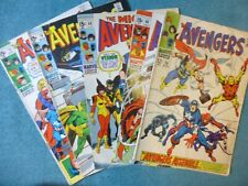 Avengers 58, 66, 68, 74, 75 lot of 5; Readers to good condition