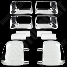 Chrome Mirror W/ Signal & Door Handles Covers psg kh for FORD F-250 F350 99-07