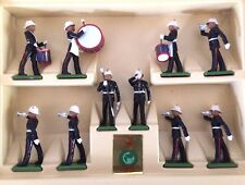 VTG. BRITAINS' ROYAL MARINE DRUM & BUGLE CORPS, 1:32 SCALE, HAND-PAINTED. #7204.