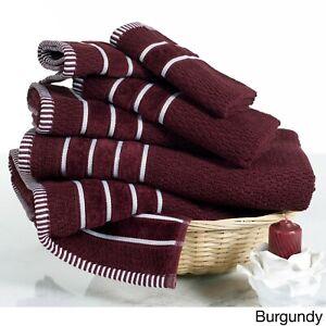 Ring Spun Cotton Rice Weave 100% Cotton 600 GSM 6 Piece Bath Towel Set