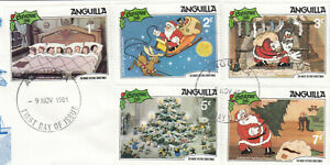 (86193) Anguilla Used Disney Night Before Christmas 1981 ON PIECE