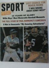 Vintage 1966 Sport Magazine WILLIE MAYS PAUL HORNUNG Cover RARE MLB NFL