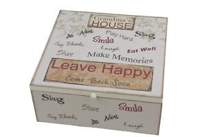 Gran's Memory Box Keepsakes Chest Memories At Grandmas House Wood Cream  SG1811