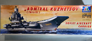 Italeri Admiral Kuznetsov Soviet Aircraft Carrier 1/720 Model Ship Kit