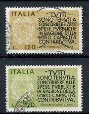 ITALIA 1977 SG # 1511-2 incoraggiamento ai contribuenti utilizzato Set # 40416