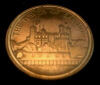 1983 Solid Bronze Tower Of London Medallion