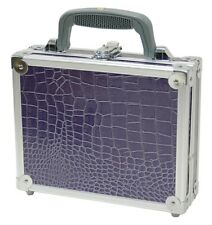 Violet Aligator Travel Case with Key lock Latch and Foam inside TZ Case U10199