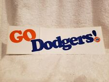 VINTAGE & RARE Los Angeles Dodgers 1980 12 Inch Bumper Sticker, VERY COOL!!