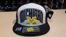 NCAA Michigan Wolverines Color Block Team Name and Logo Retro Snapback Cap Hat