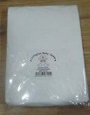 New 2 x Baby Crib Fitted Sheets  - Premium Quality - 100% Cotton - White