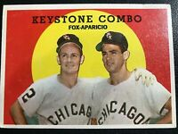 KEYSTONE COMBO, NELLIE FOX/LUIS APARICO, CHICAGO CUBS, VERY GOOD CARD, #408