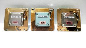 "Maritime Antiques Marine Ship Key Telegraph Key "" IBUKI "" OSAKA JAPAN  - 3 Pc"