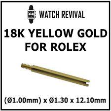 18K SOLID GOLD SWISS MADE BRACELET SCREW LINK FOR ROLEX Ø1.00mm x Ø1.30 x 12.10