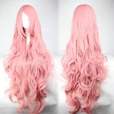 Ladieshair Wig Perücke Pink Rosa ca. 90cm für VOCALOID Luka Cosplay Karneval F7T