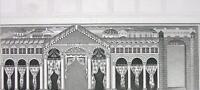 ITALY Ravenna Emperor's Palace - 1860s Antique Engraving Print