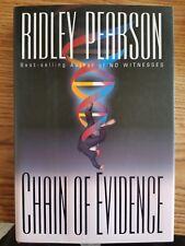 SIGNED: Ridley Pearson - CHAIN OF EVIDENCE - 1st Edition