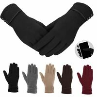 Winter Fleece Warm Thick Soft Cashmere Touch Screen Gloves Mitten For Women Lady