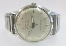 VINTAGE AUTOMATIC BULOVA MENS WRIST WATCH FOR PARTS OR REPAIR ~WB~