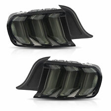 Custom SMOKE Fiber Optic FULL LED Taillights w/ Sequential for 15-20 Mustang