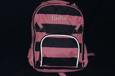 """PotteryBarn Fairfax Girls Striped Pink Small Backpack NWOT """"India"""" FREE SHIPPING"""