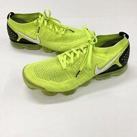 Nike Air Vapormax Flyknit 2 Men's Sz 12.5 Volt Running Shoes 942842-700 *READ*