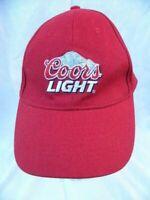 Coors Light Hat Cap Adjustable Beer Logo Red Embroidered Advertising Vintage