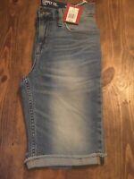 NWT Mossimo Supply Mens Size 28 Slim Straight Light Vintage Stone Denim Shorts