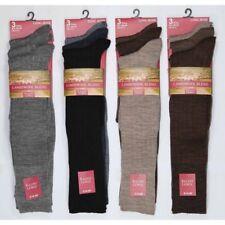 Mens Long Length Fine Ribbed Lambs Wool Blend Socks Knee High Length Winter Warm