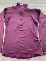 *Patagonia Capilene Women's 1/4 zip Fleece Pullover Purple Sweater XS