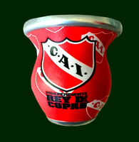 INDEPENDIENTE - Lined Glass MATE - Argentina Soccer