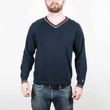 Men's UNDEFEATED V Neck Lightweight Sweater Navy size L (T31) $68
