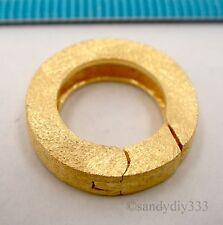 1x 18K GOLD STERLING SILVER STARDUST ROUND SHORTENER SPRING CLASP 15.5mm G212