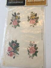 Vintage Patricia Nimocks Wild Roses Decal Transfer Decoupage Art Print - 4 on pg